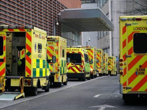 Ambulances outside the Royal London Hospital (Aaron Chown/PA)
