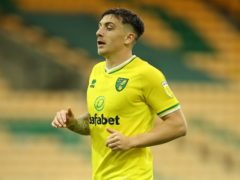 Jordan Hugill netted Norwich's second in the win over Coventry (Nigel French/PA)