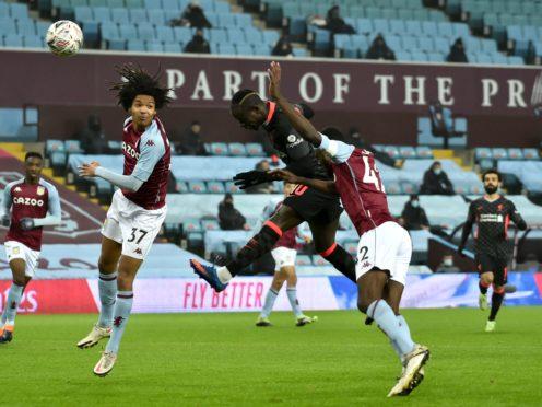 Liverpool's Sadio Mane scored twice in their win at Aston Villa. (Rui Vieira/PA)