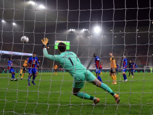 Adama Traore's goal was enough for Wolves to beat Crystal Palace (Nick Potts/PA)
