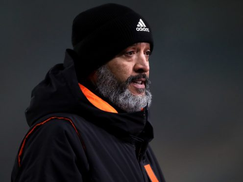 Nuno Espirito Santo wants his Wolves players to be more clinical in front of goal (Nick Potts/PA)