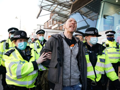 Twelve people have been arrested for breaching Covid-19 restrictions (Aaron Chown/PA)