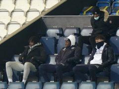 Crystal Palace's Eberechi Eze (left) watches the match at Loftus Road (Tess Derry/PA)