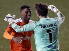 Chris Maxwell (right) saved the decisive kick in the penalty shootout (Richard Sellers/PA)