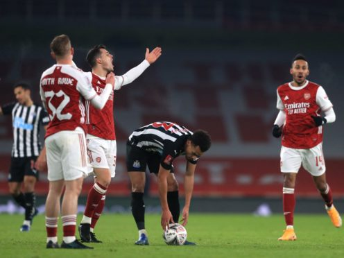 Emile Smith Rowe made the most of his red card being downgraded to a yellow in Arsenal's 2-0 win over Newcastle (Adam Davy/PA)