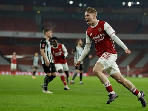 Emile Smith Rowe scored his second goal of the season in Arsenal's 2-0 win over Newcastle (Matt Dunham/AP/PA)