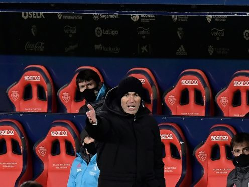 Zinedine Zidane's side were held by Osasuna (Alvaro Barrientos/AP)