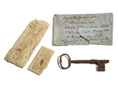 The key to Napoleon's prison bedroom (Sotheby's/PA)