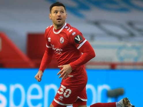 Former reality television star Mark Wright made his debut as a professional footballer for Crawley against Leeds (Adam Davy/PA)