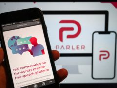 The website of the social media platform Parler (Christophe Gateau/dpa/AP)
