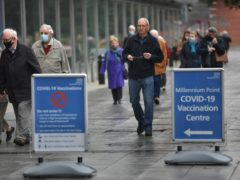 Health Secretary Matt Hancock said there is evidence that public enthusiasm for the Covid-19 vaccine has 'risen significantly' (Jacob King/PA)
