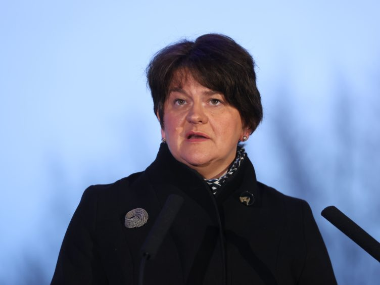 First Minister Arlene Foster again called on the UK Government to resolve issues that have hindered the flow of food products (Liam McBurney/PA)