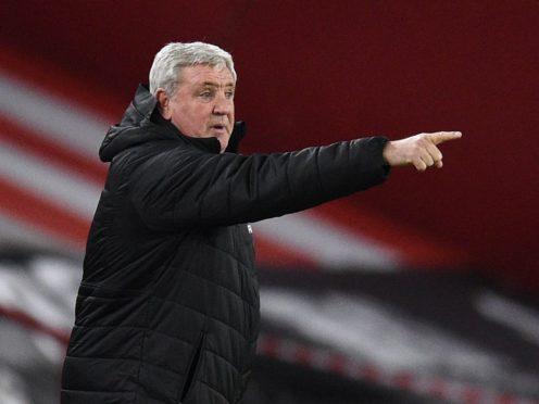 Newcastle head coach Steve Bruce is under fire after a dreadful run of results (Oli Scarff/PA)