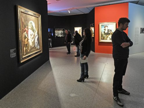 People visit the 2017 exhibition Gurlitt : Status Report at the Bundeskunsthalle museum in Bonn, Germany (Martin Meissner/AP)