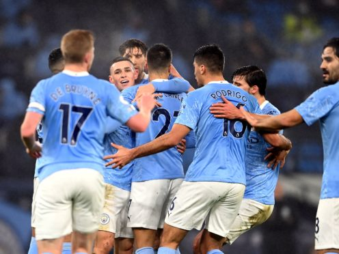 Phil Foden scored the only goal of the game (Laurence Griffiths/PA)