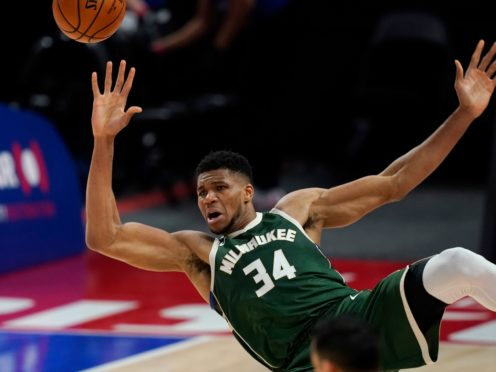 Milwaukee Bucks forward Giannis Antetokounmpo (Carlos Osorio/AP)