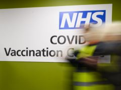 Health and social care staff are revieving coronavirus vaccines at the NHS Louisa Jordan (Leon Neal/PA)