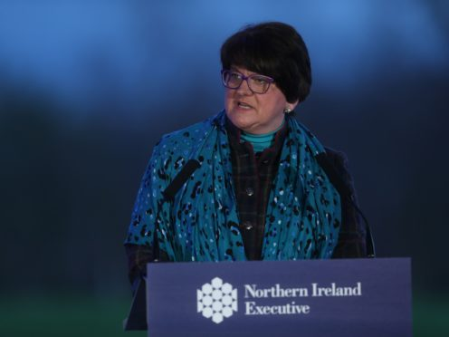 First Minister Arlene Foster during a media briefing (Brian Lawless/A)