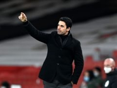 Mikel Arteta hailed Arsenal's spirit (Neil Hall/PA)