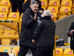 Sam Allardyce (left) celebrates with assistant Sammy Lee (Adrian Dennis/PA)