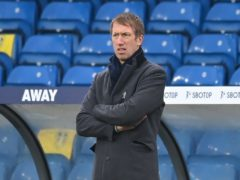 Brighton boss Graham Potter is preparing for the visit of Blackpool (Michael Regan/PA)