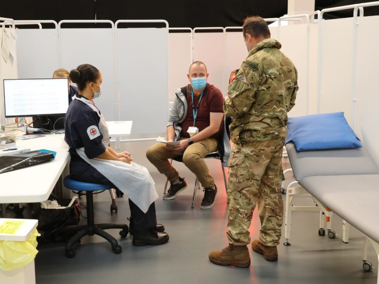 The army will identify and set up 80 coronavirus vaccine centres across Scotland (LPhot Oates/Ministry of Defence/Crown Copyright/PA)