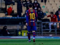 Lionel Messi was dismissed for the first time in his Barcelona career (Miguel Morenatti/AP)