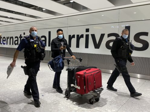 Travel corridors allowing people to enter the UK without self-isolating have closed (Kirsty O'Connor/PA)
