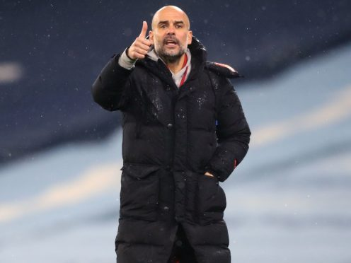 Pep Guardiola feels the true test of his Manchester City side is yet to come (Martin Rickett/PA)