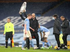 Pep Guardiola must do without Kevin De Bruyne for a key part of the campaign (Martin Rickett/PA)