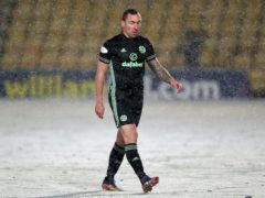 Scott Brown was sent off as Celtic drew at Livingston (Andrew Milligan/PA)