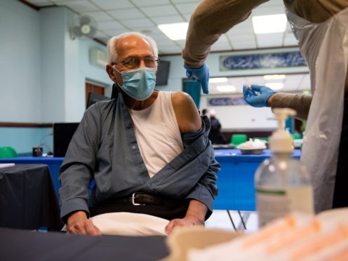 NHS data shows London is lagging behind other regions in vaccinating those aged 80 and over (Jacob King/PA)