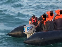 Fouad Kakaei (left), a migrant fleeing persecution in Iran, was picked up by Border Force in the English Channel (Home OFfice/PA)