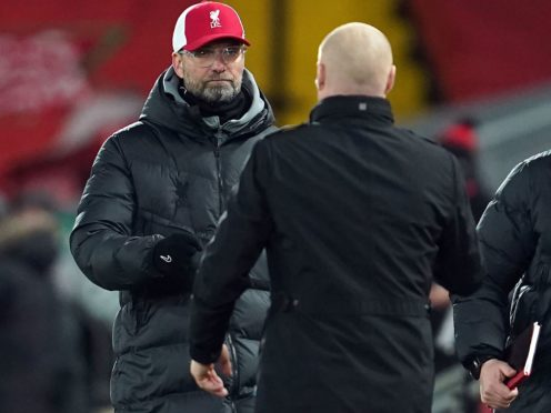 Jurgen Klopp (left) is enduring a testing time as Liverpool manager (Peter Powell/PA)