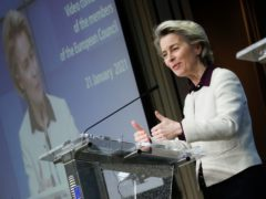 European Commission President Ursula von der Leyen (Olivier Hoslet, Pool Photo via AP)
