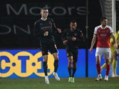 Phil Foden scored Manchester City's equaliser at Cheltenham (Nick Potts/PA)
