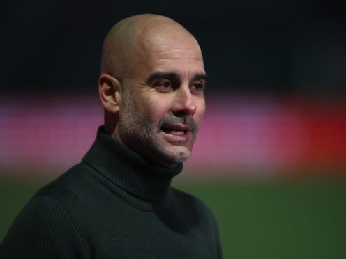 Pep Guardiola is not getting carried away (Nick Potts/PA)