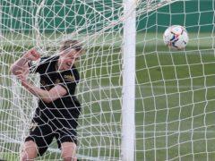 Barcelona's Frenkie De Jong scored the opening goal at Elche (Alberto Saiz/AP)