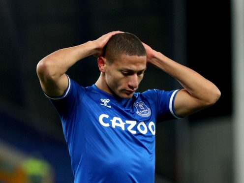 Everton forward Richarlison has been told to work harder to fix his current slump in form (Peter Byrne/PA)