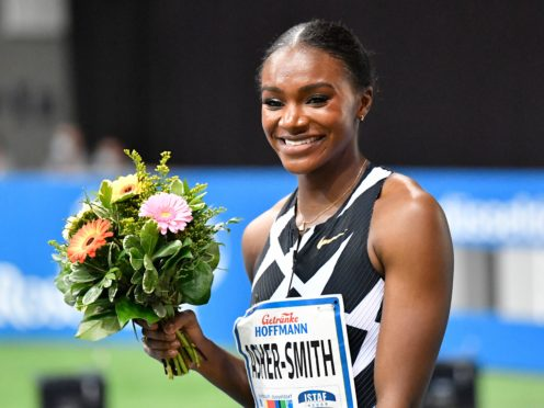 Dina Asher-Smith made it two wins from two in the 60m in Dusseldorf (Martin Meissner/AP)