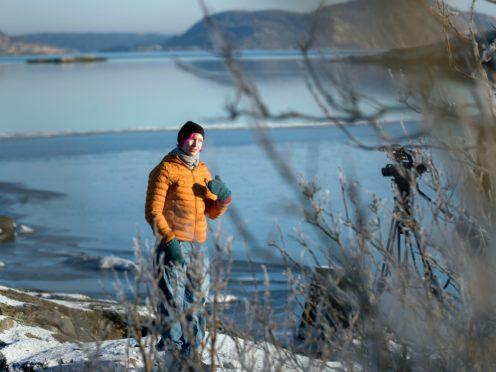 Lisa Enroth on the island of Hamneskar, western Sweden (Thomas Johansson/AP)