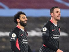 Mohamed Salah, left, scored twice in Liverpool's win (Justin Setterfield/PA)