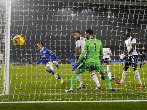 Leandro Trossard scored the only goal as Brighton beat Tottenham (Andrew Boyers/PA)