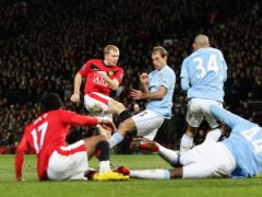 Manchester United and Manchester City have had some memorable cup semi-finals (Martin Rickett/PA)