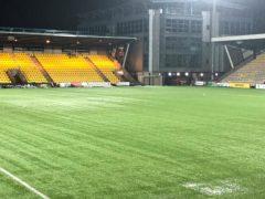 LIvingston's pitch was waterlogged (Gavin McCafferty/PA