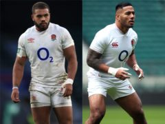 Worcester centre Ollie Lawrence, left. is flattered by comparisons with Manu Tuilagi, right (Adam Davy/Steven Paston/PA)