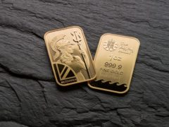 Royal Mint gold bars. The Mint witnessed a surge in gold bar sales over Christmas (Royal Mint/PA)