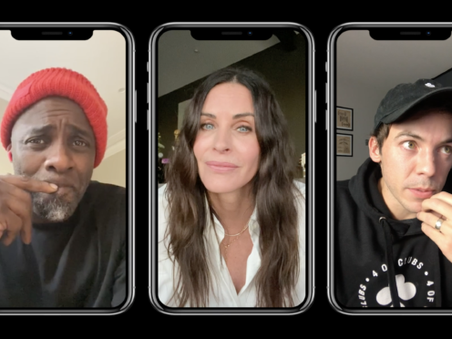 Idris Elba, Courteney Cox and Connor Price (7Wallace/4 Of Clubs/PA)