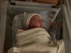 Baby Ciaran was born shortly after the new year started (NHS Lanarkshire/PA)
