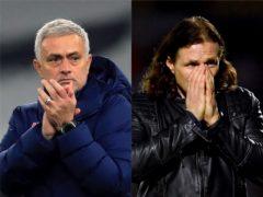 Jose Mourinho, left, is full of admiration for Gareth Ainsworth, right (Adam Davy/Simon Galloway/PA)